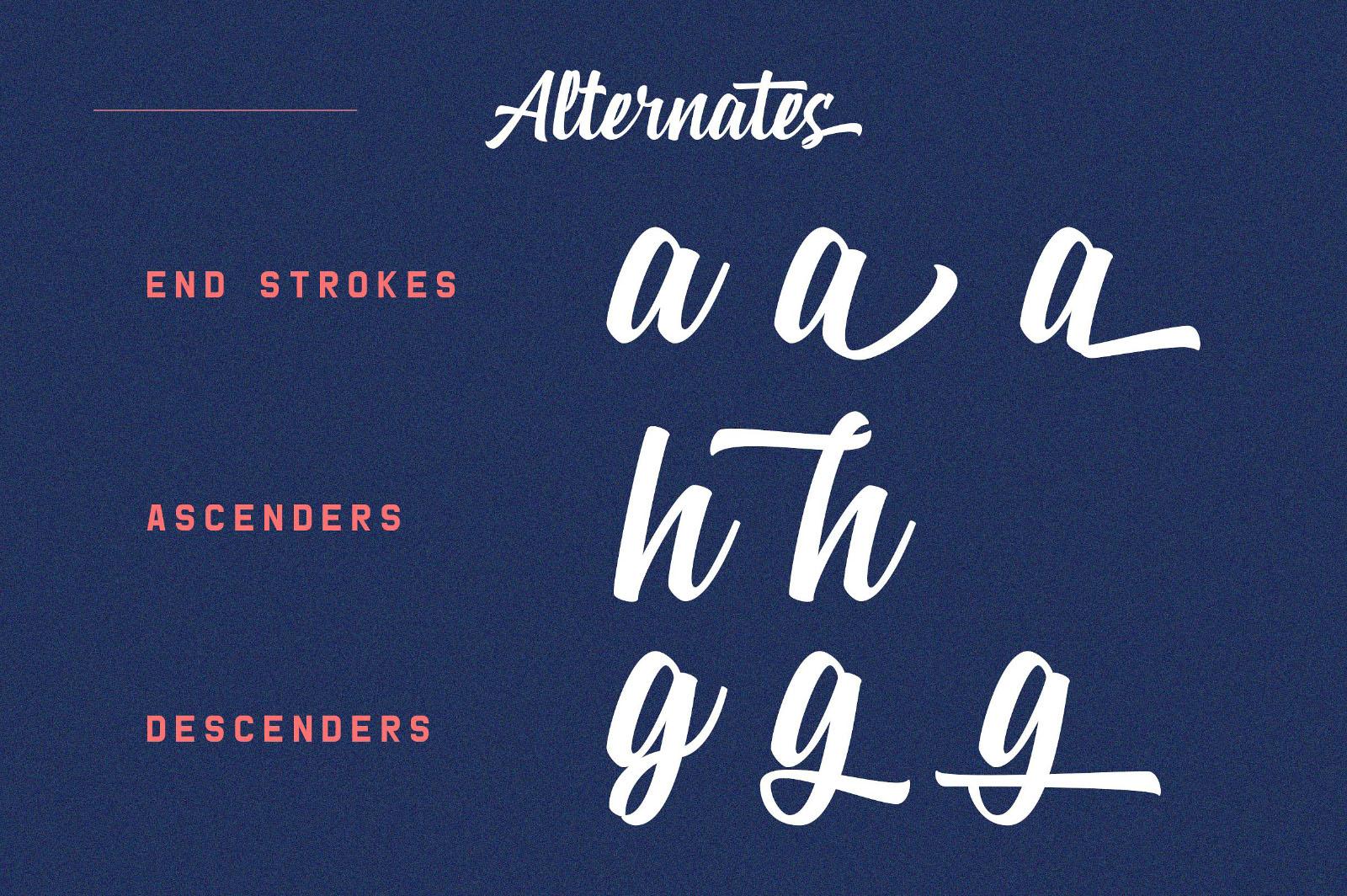 Zeichen Script Font