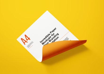 A4 Letter Paper Mockup