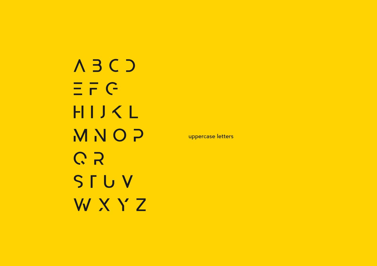 Abster Font Appercase Letters
