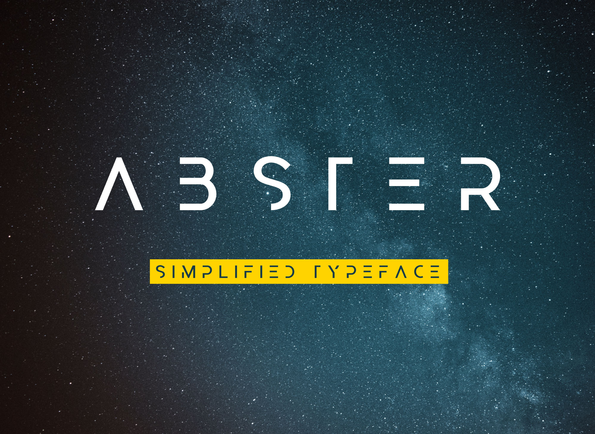 geometric fonts are normally elegant and modern and this free abster typeface is an example its a simplified abstract styled typeface based on a geometric