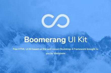 Boomerang Ui Kit HTML