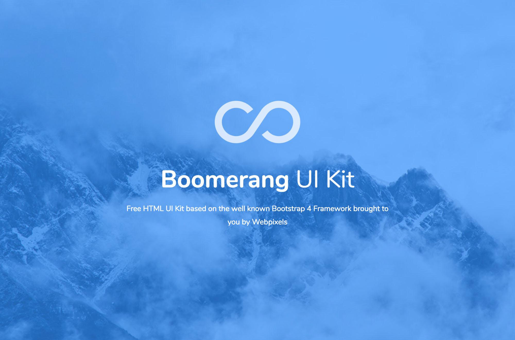Boomerang Html Ui Kit