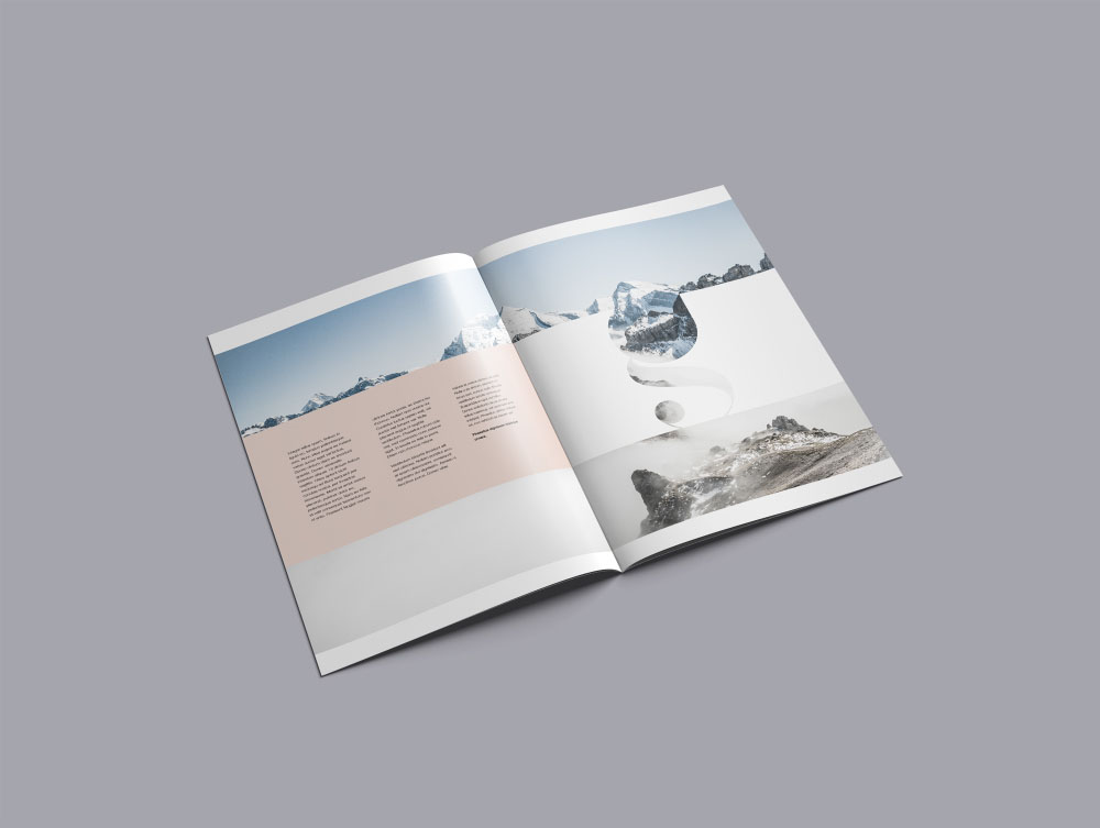 a4 brochure mockup psd free download