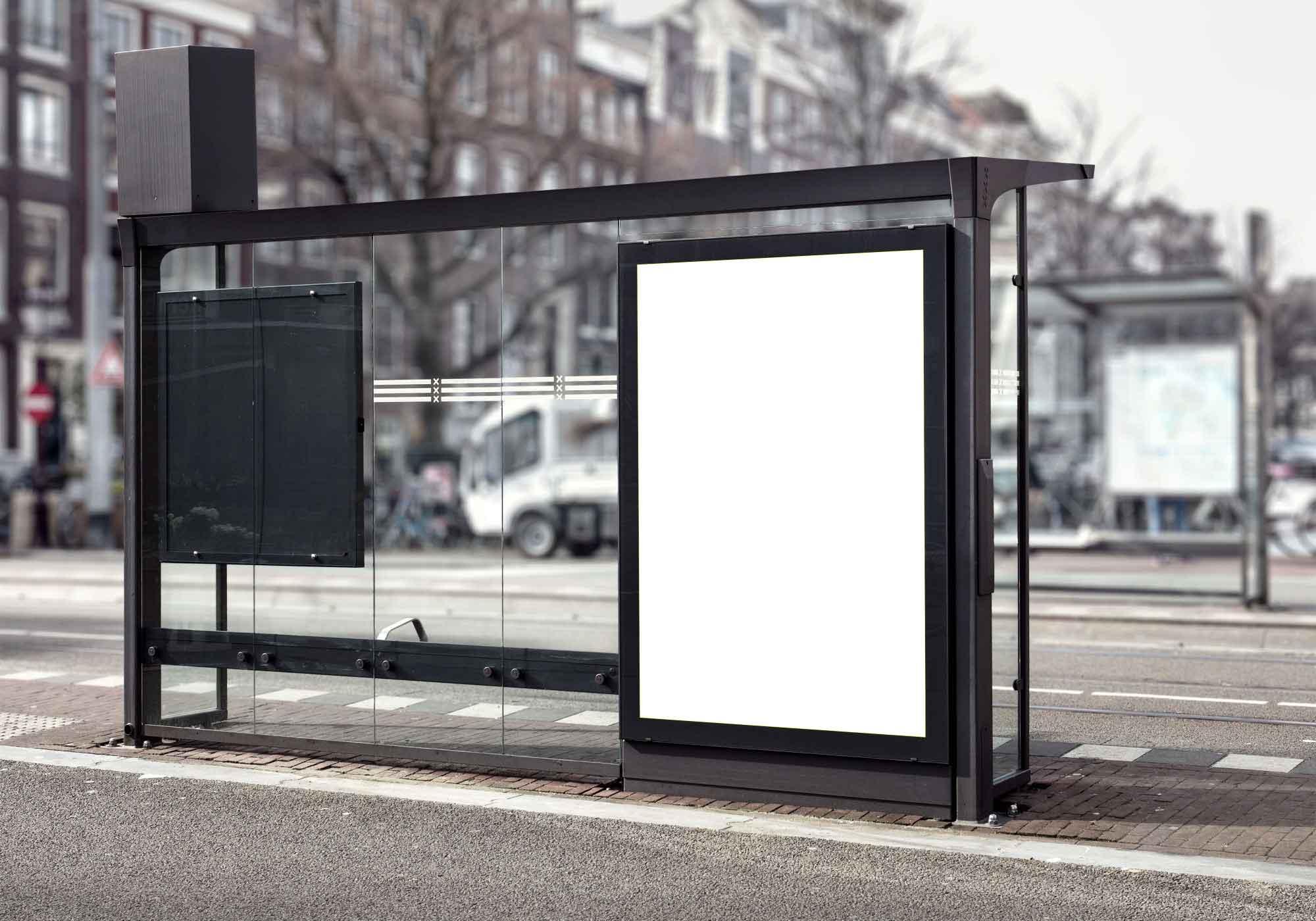 Bus Stop Billboard Mockup 2