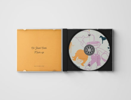 CD Jewel Cover Mockup