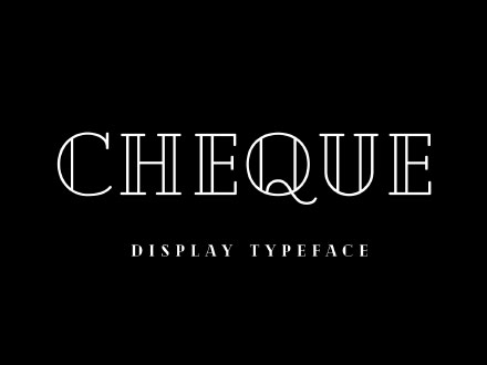 Cheque Display Typeface