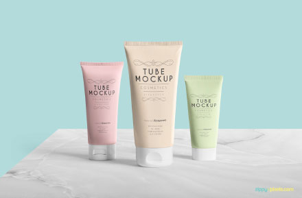 Clean Free Packaging Tube Mockup