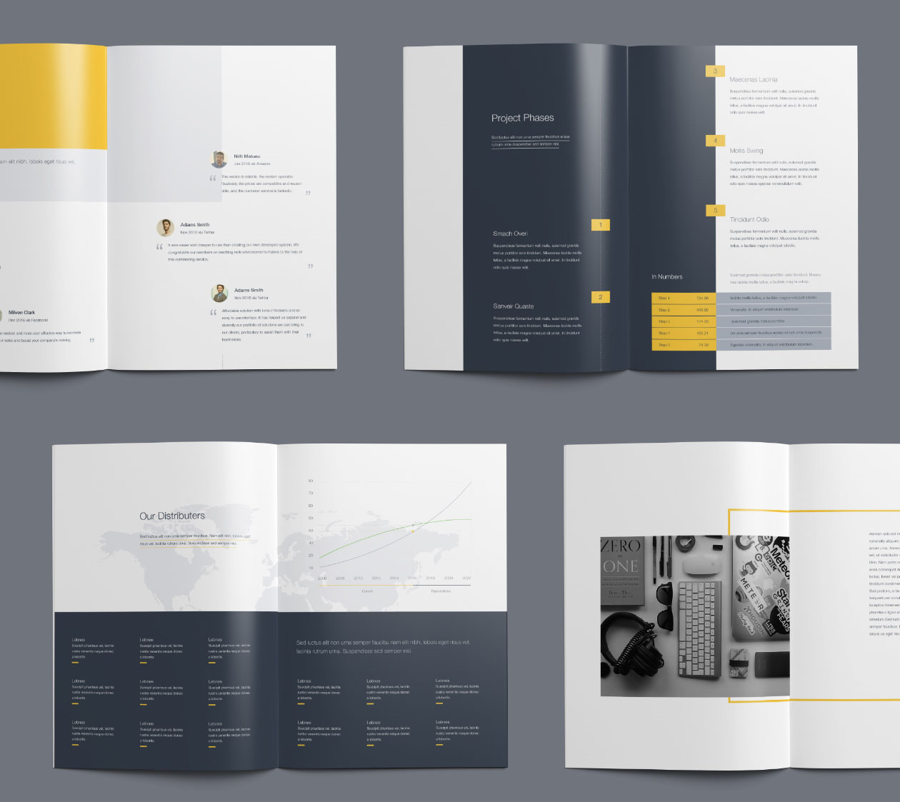 Company Profile Design Template: Free Company Profile Template