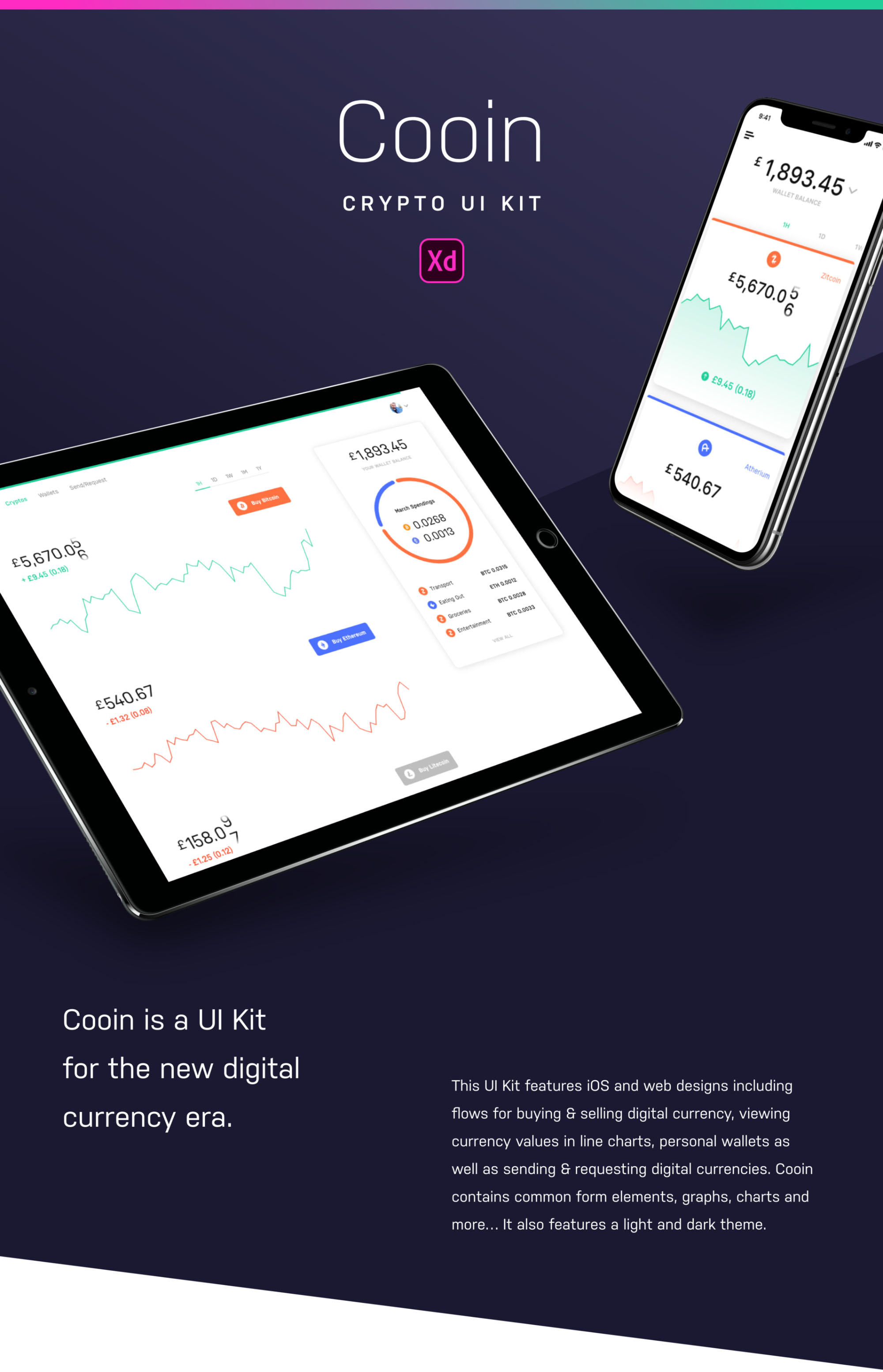 Cooin Crypto Free Ui Kit