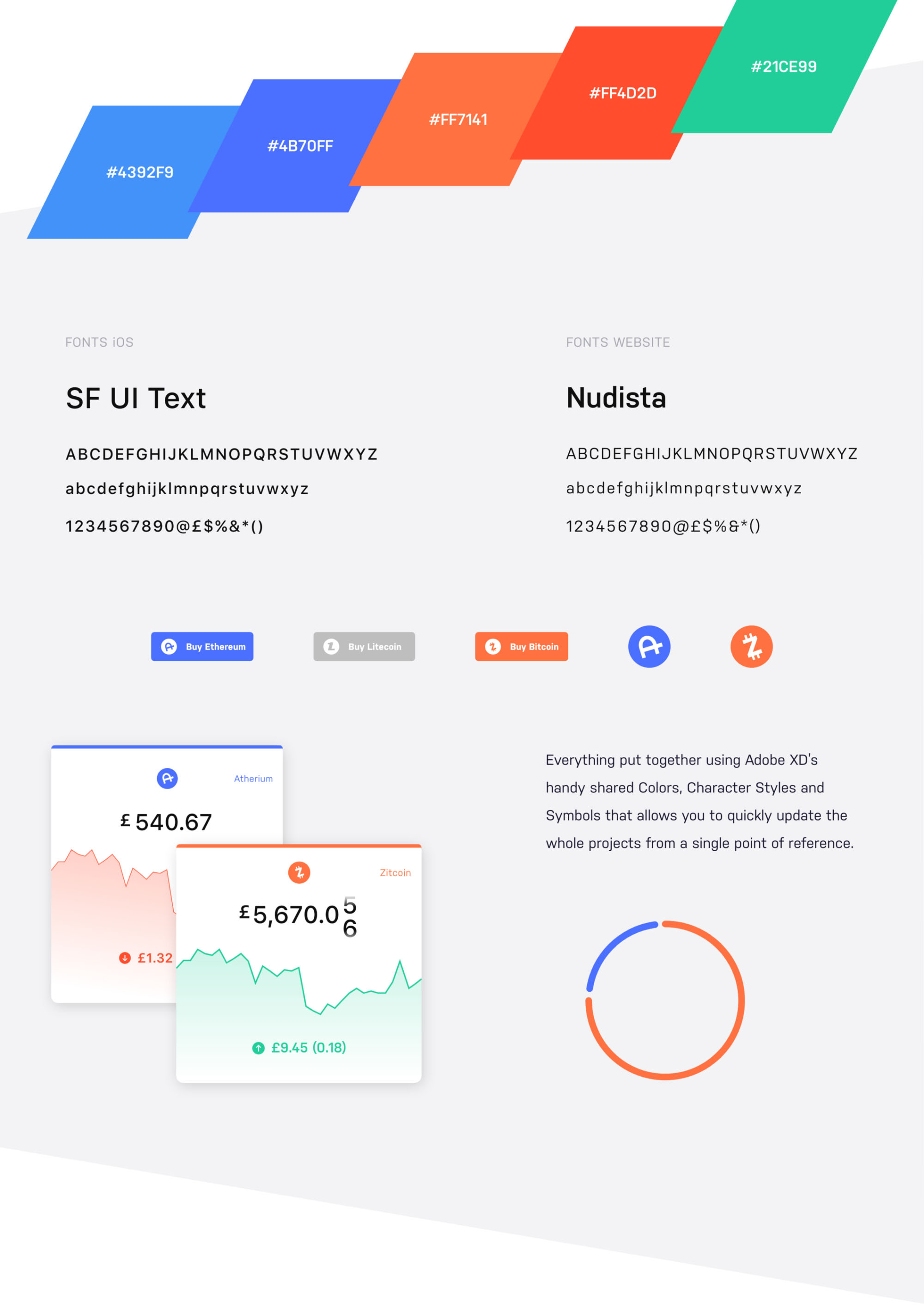 Cooin Crypto Free Ui Kit- Fonts and Colors