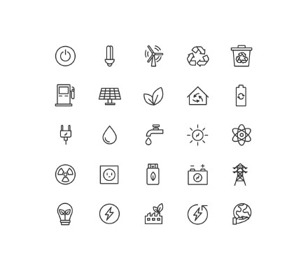 Energy & Ecology Icons