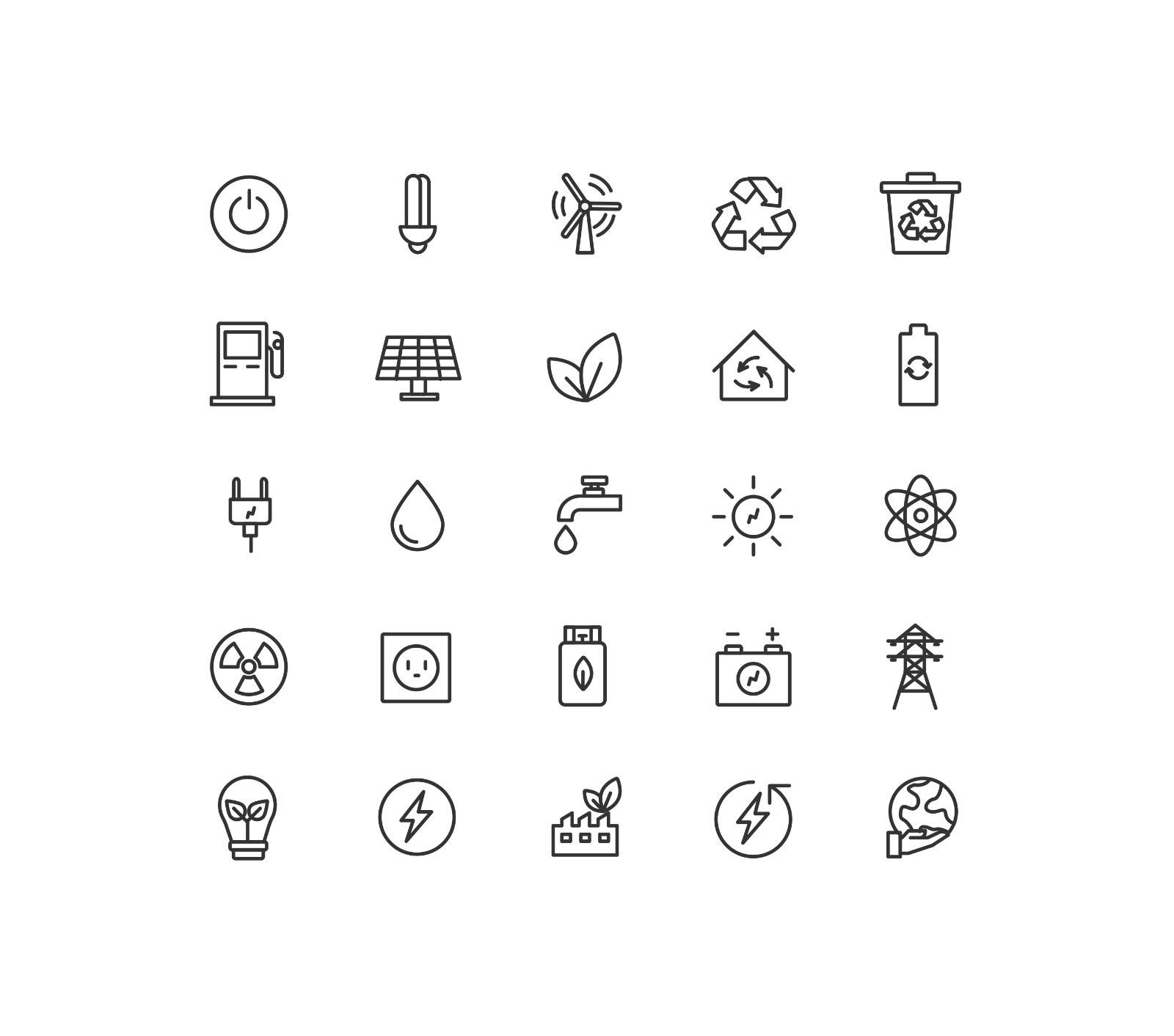 Energy & Ecology Icons