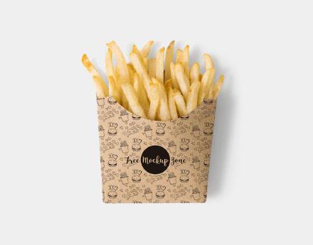Free French Fries Box Mockup