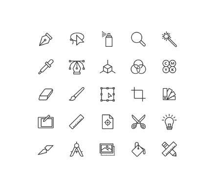 Free Graphic Design Icons Vector