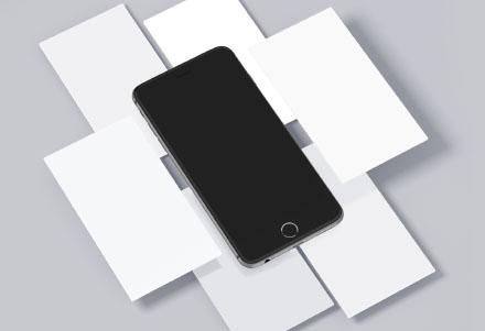 Free iPhone & Mobile Screens Mockups