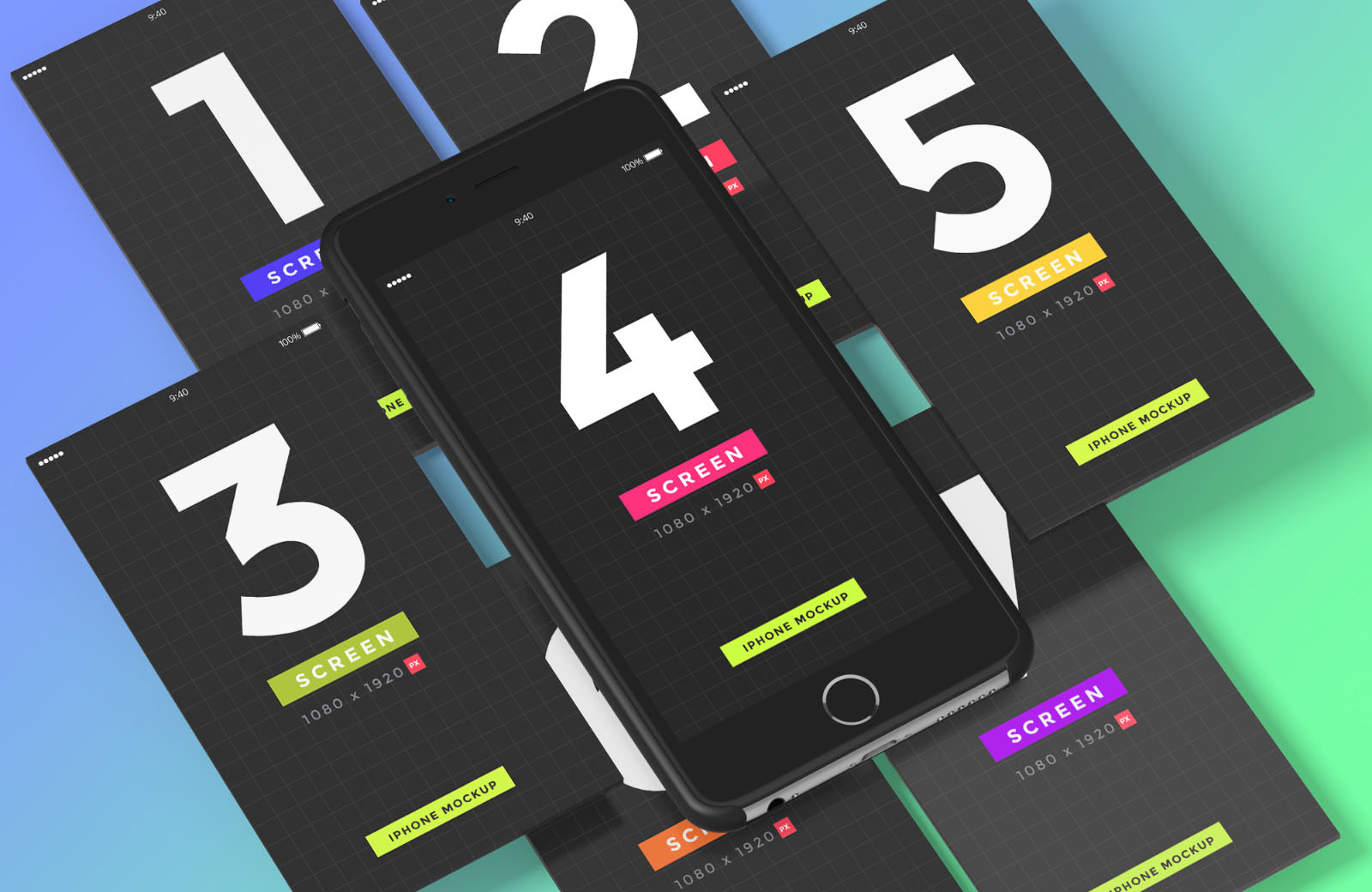 Free iPhone & Mobile Screens Mockups