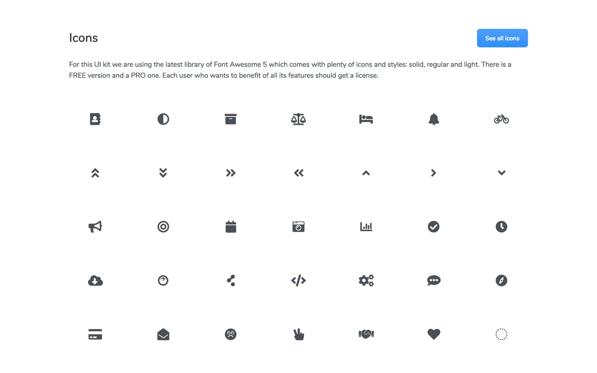 Boomerang Html Ui Kit - Icons