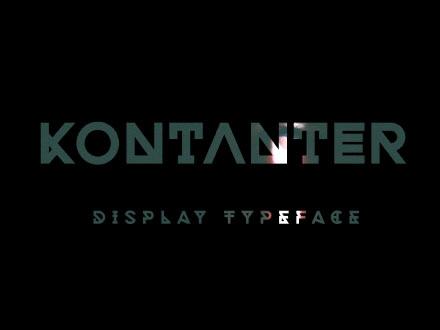 Kontanter Monospaced Free Font