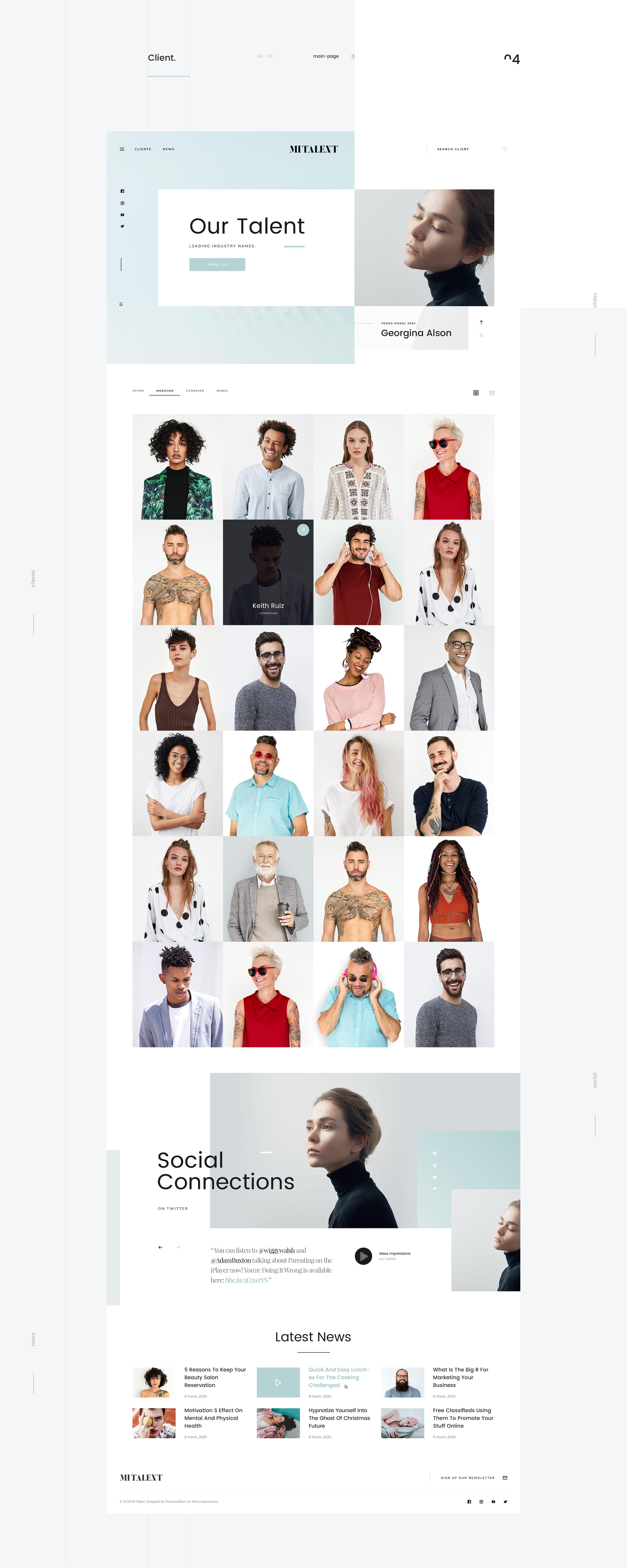 Agency Website Template : Mi Talent