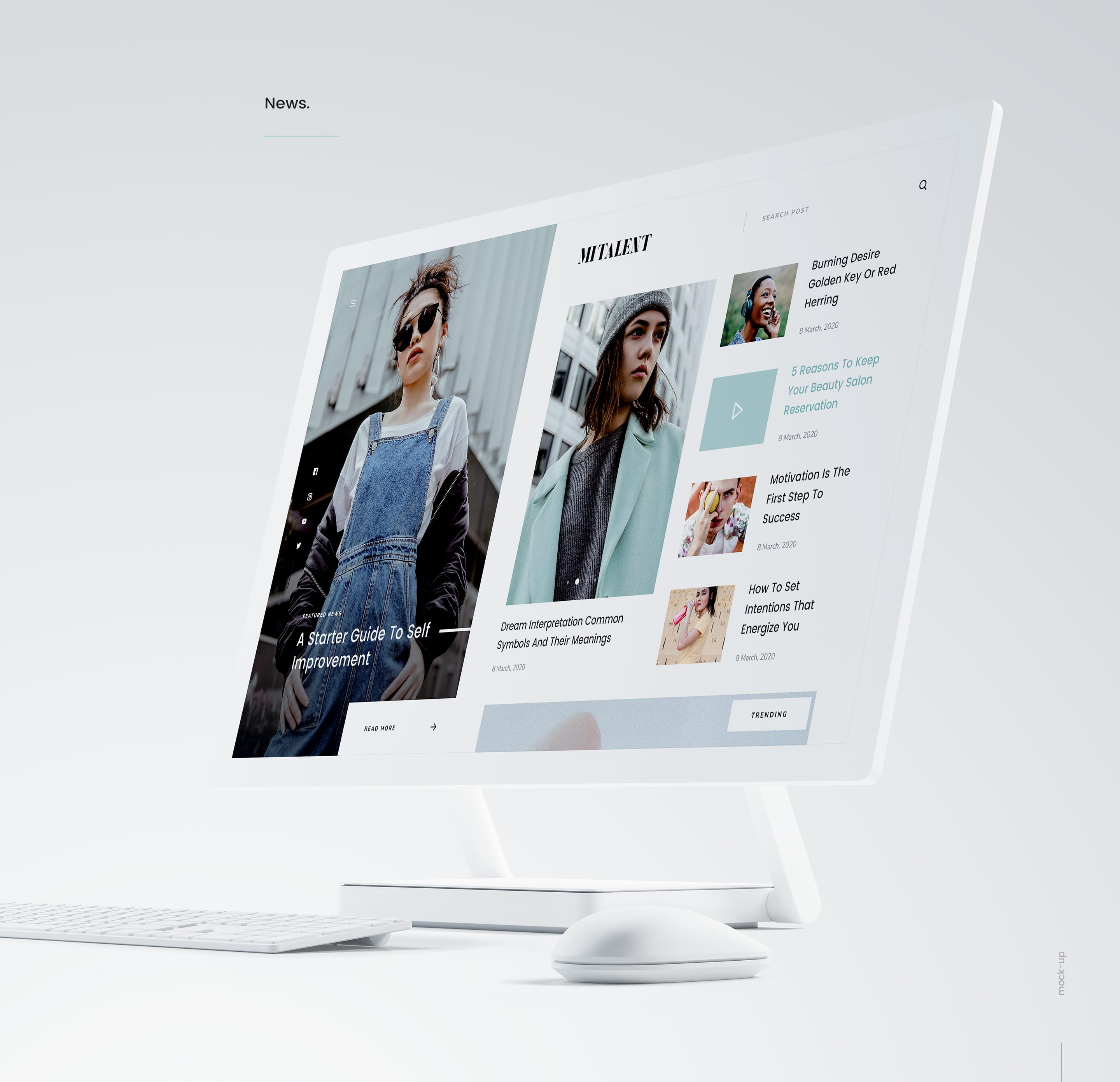 Agency Website Template : Mi Talent