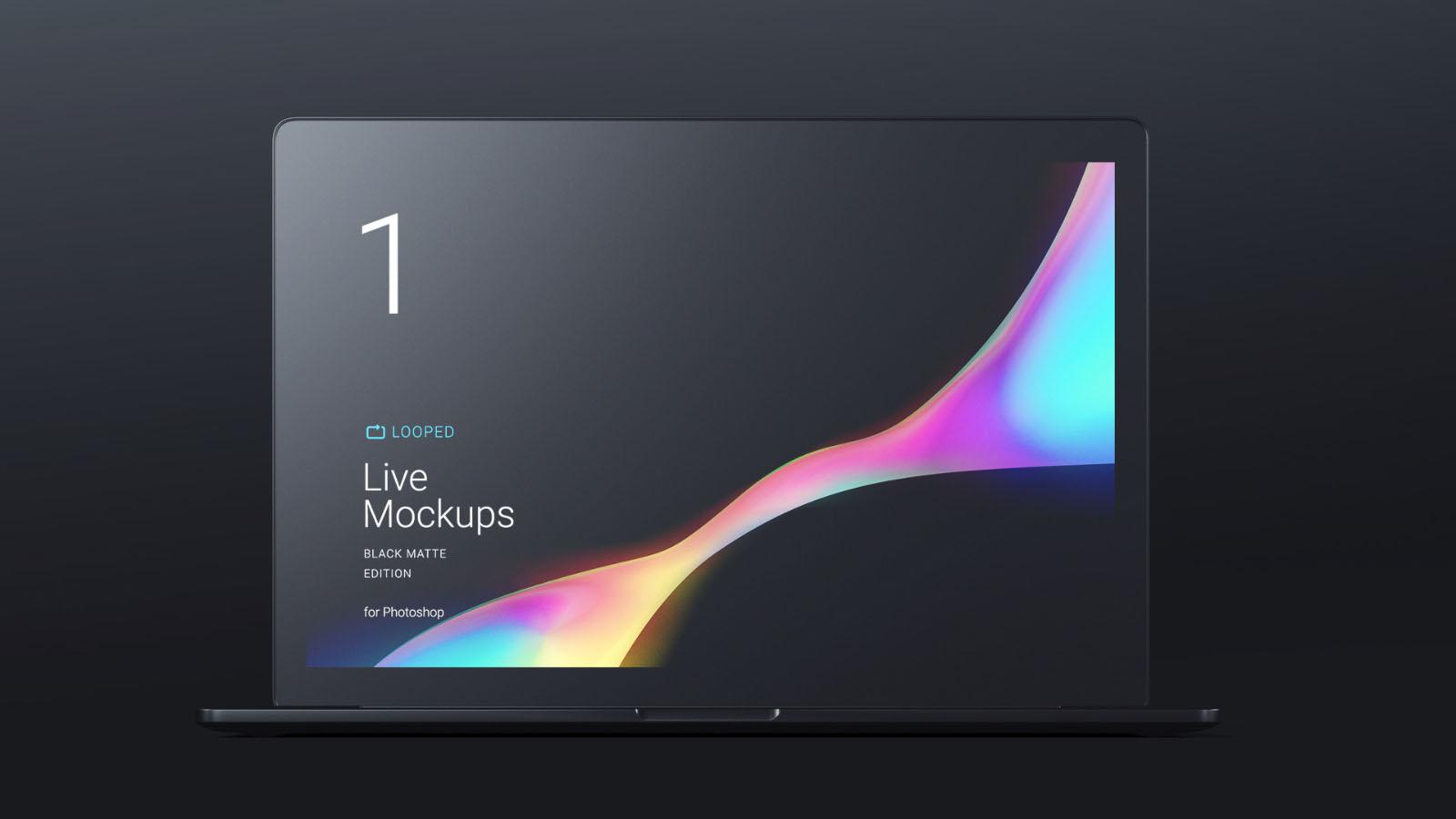 Dark Macbook Mockup
