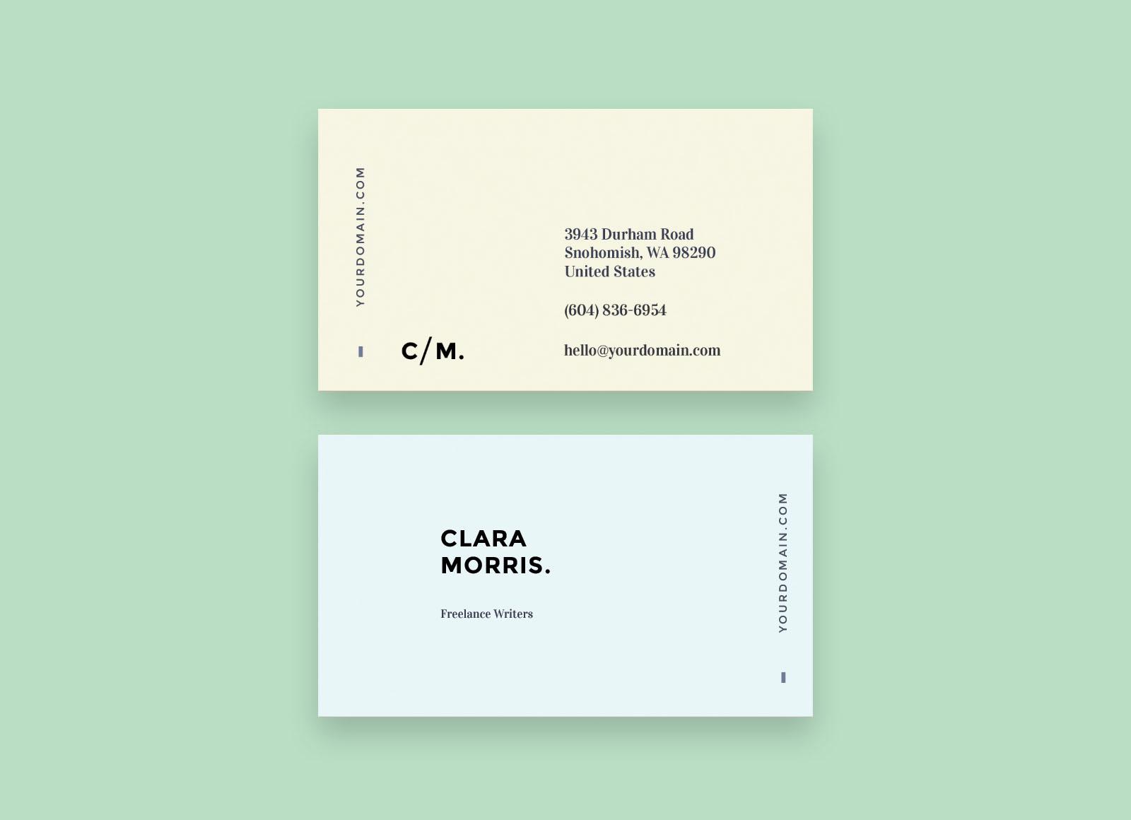 Free minimal business card template wajeb Images