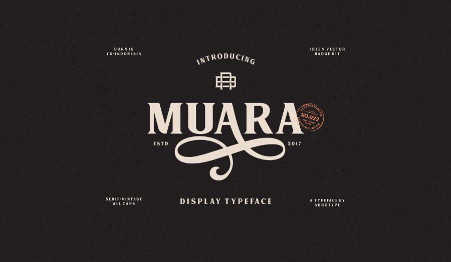 Muara Free Serif Font