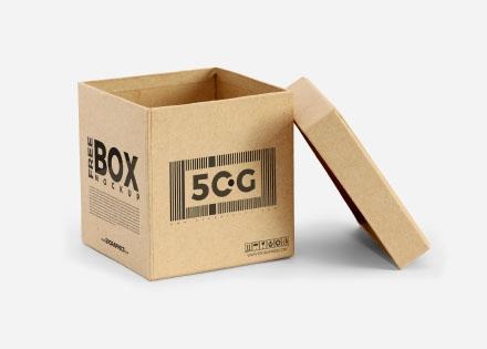 Open Box Mockup