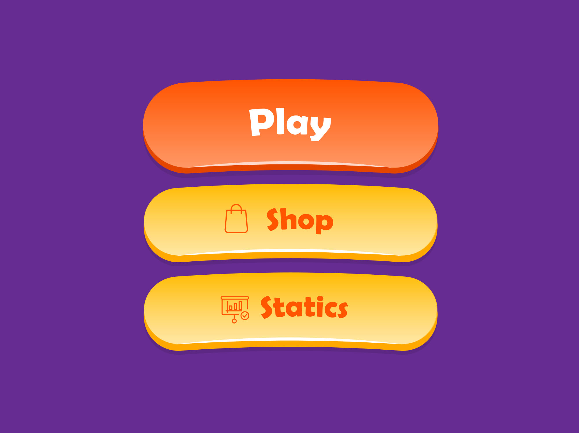Playful Game Buttons
