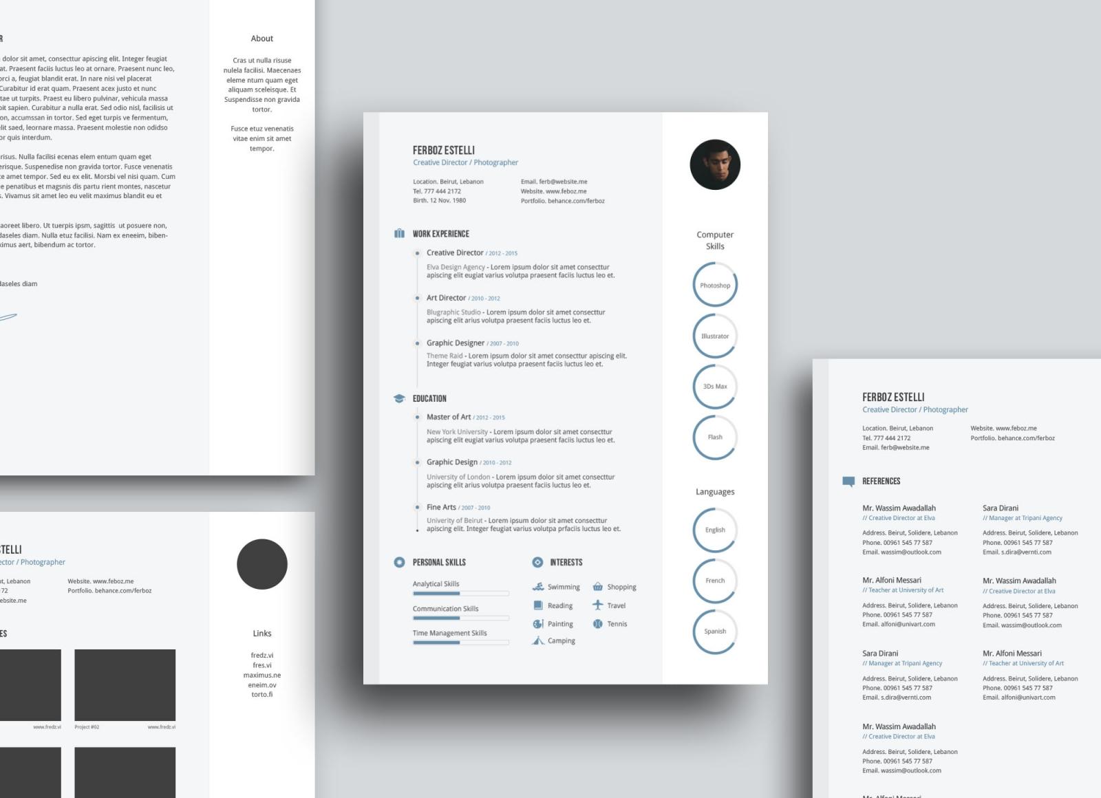 Descarga plantillas gratuitas de diseño en Unblast