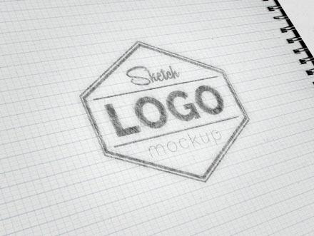 Sketch Logo Mockup