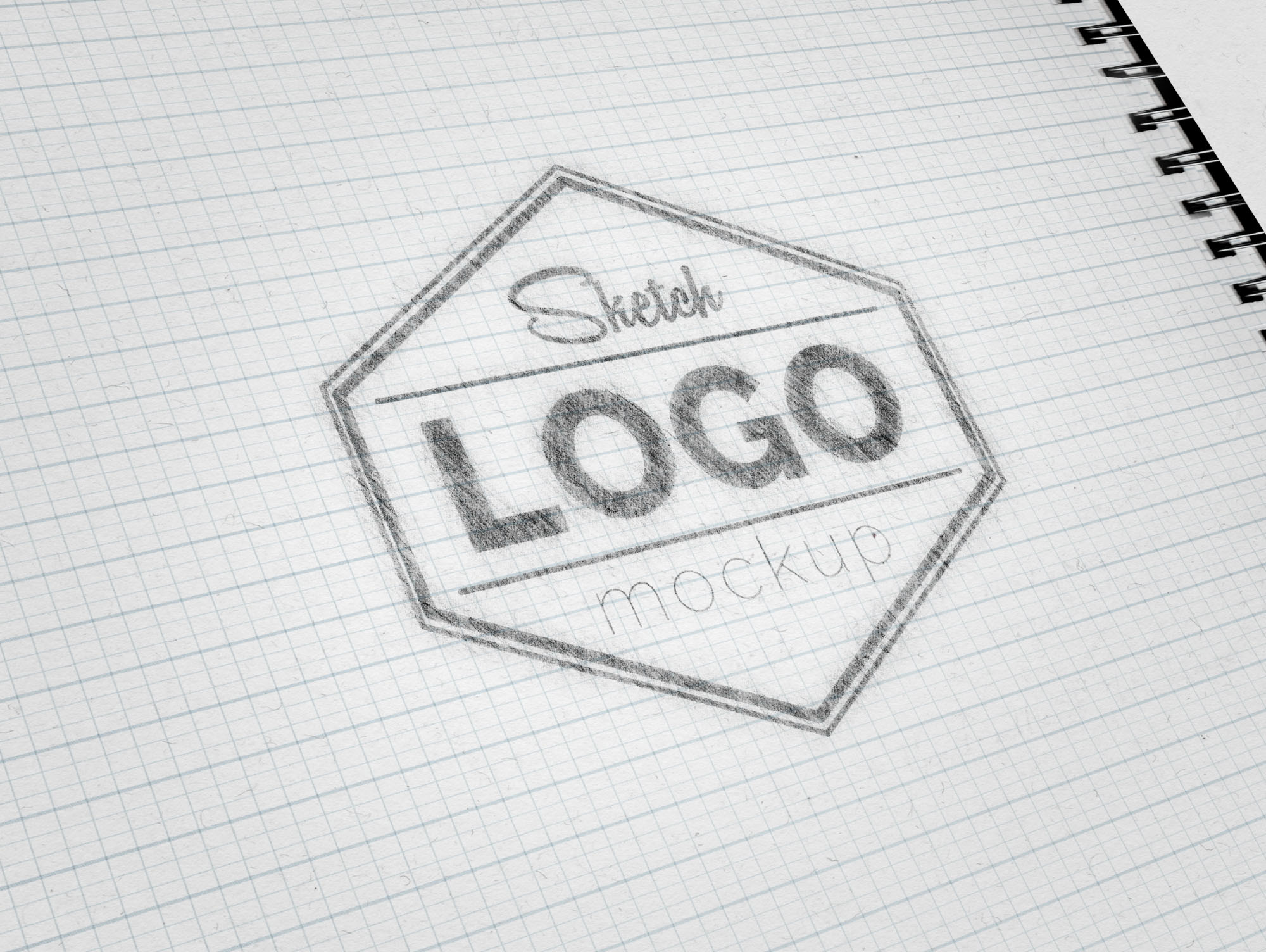 Free Sketch Logo Mockup (PSD)