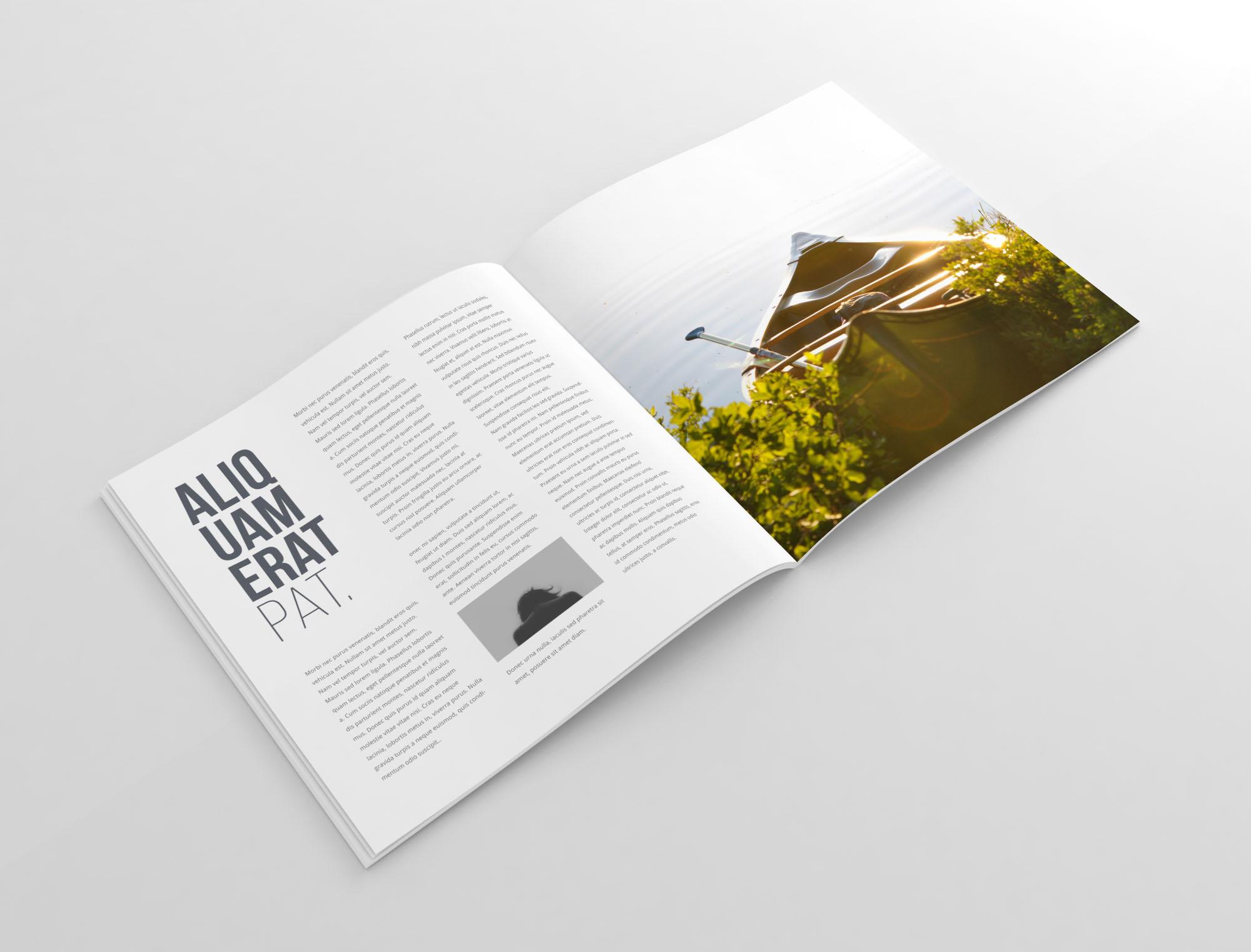 Square Magazine Mockup - Perspective