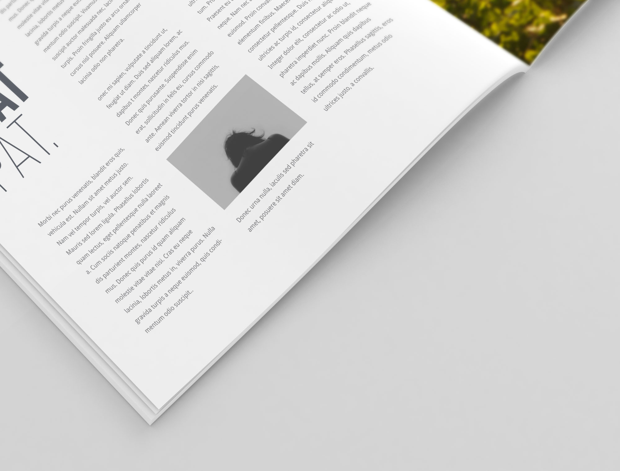 Square Magazine Mockup - Closeup