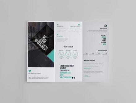 Tr-fold Brochure Mockup