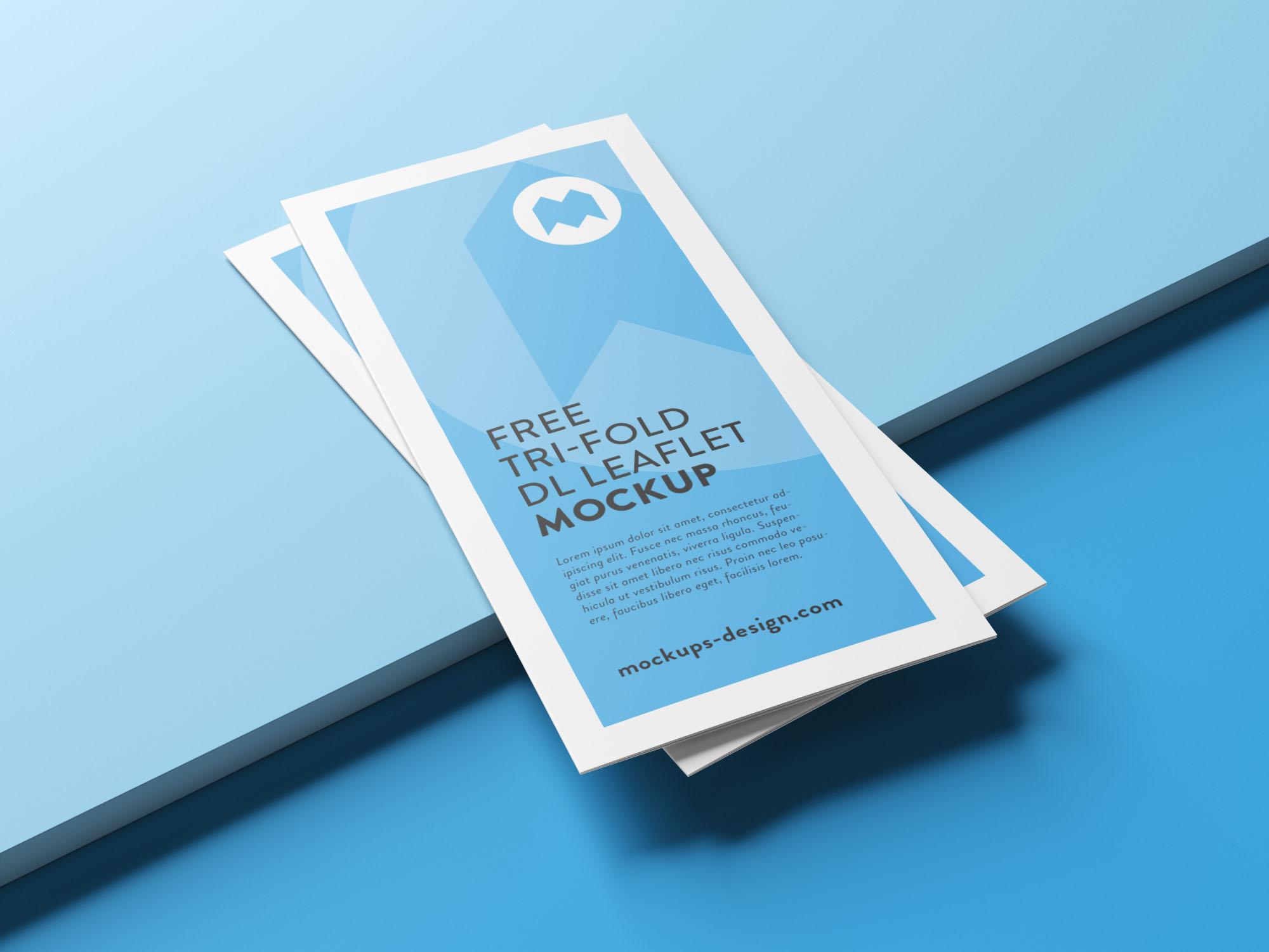Trifold Leaflet Brochure Mockup
