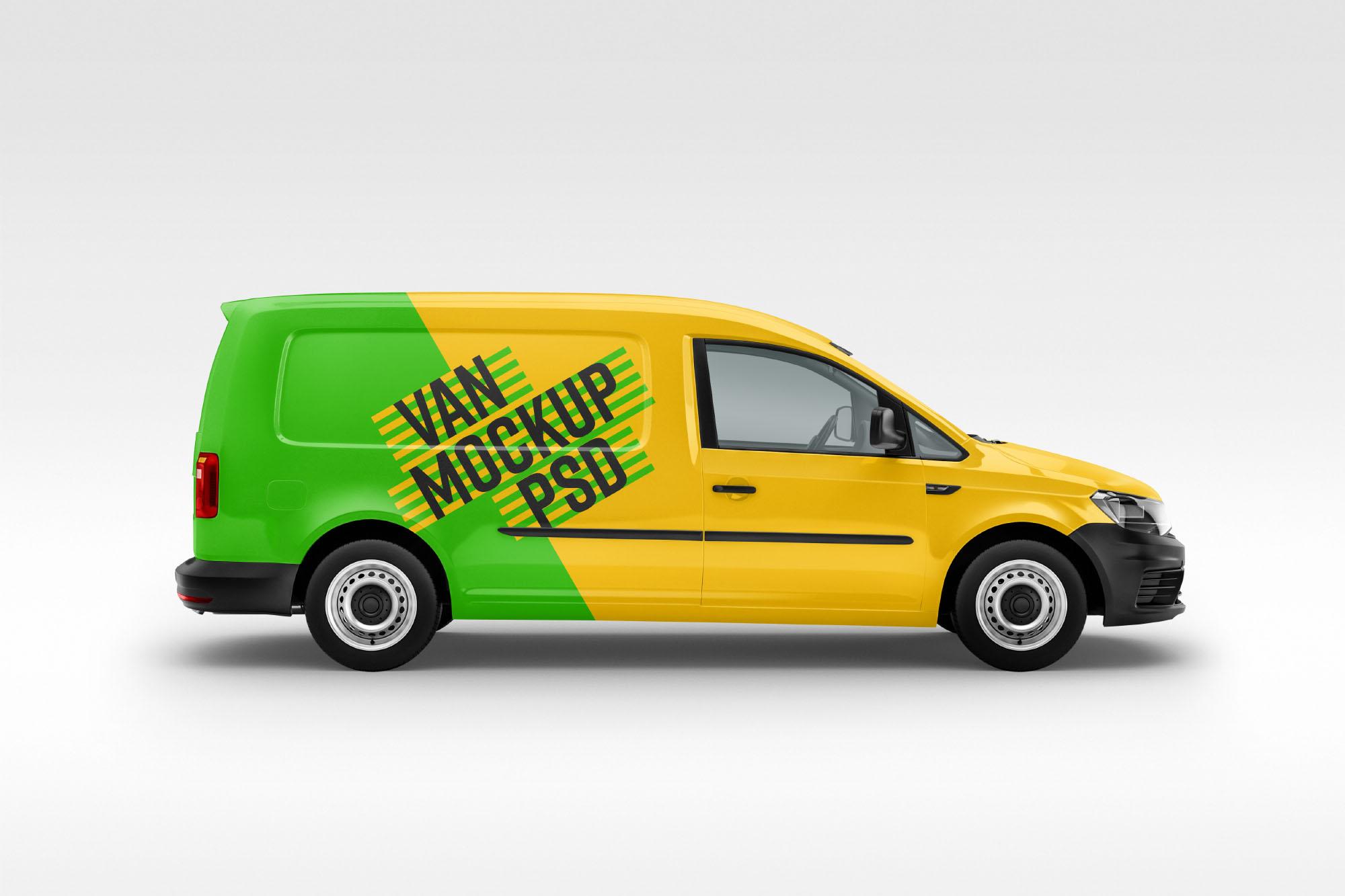 vehicle mockup psd free van mockup (psd)