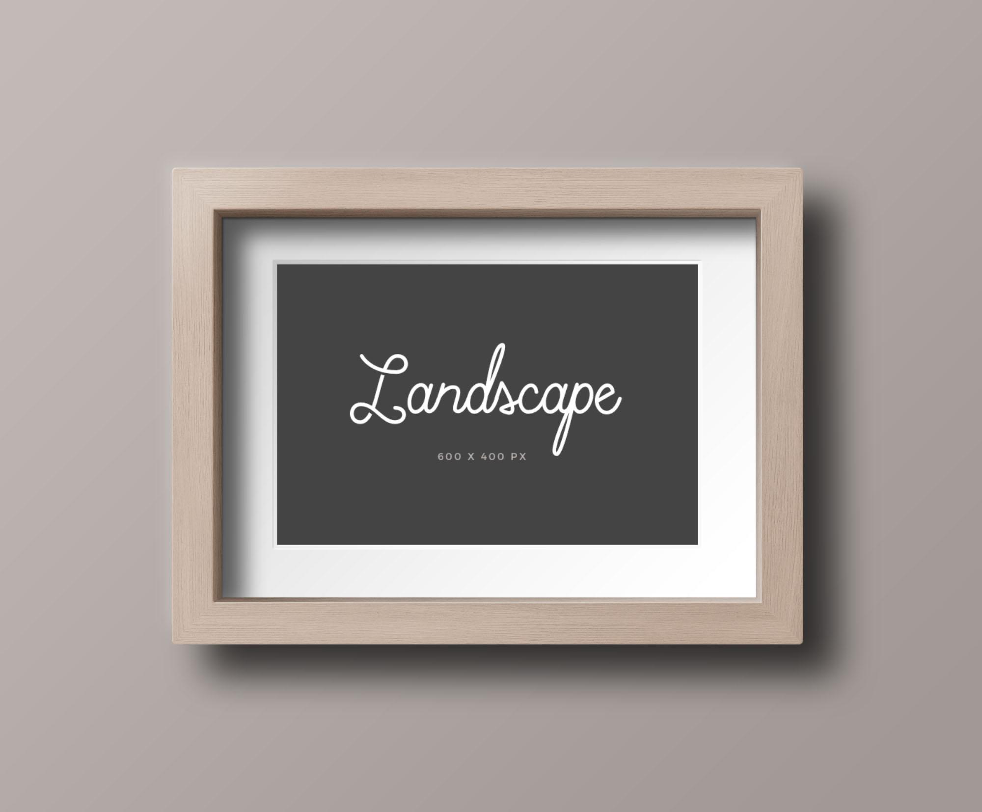 Wood Photo Frame Mockup - LandscapeWood Photo Frame Mockup - Landscape