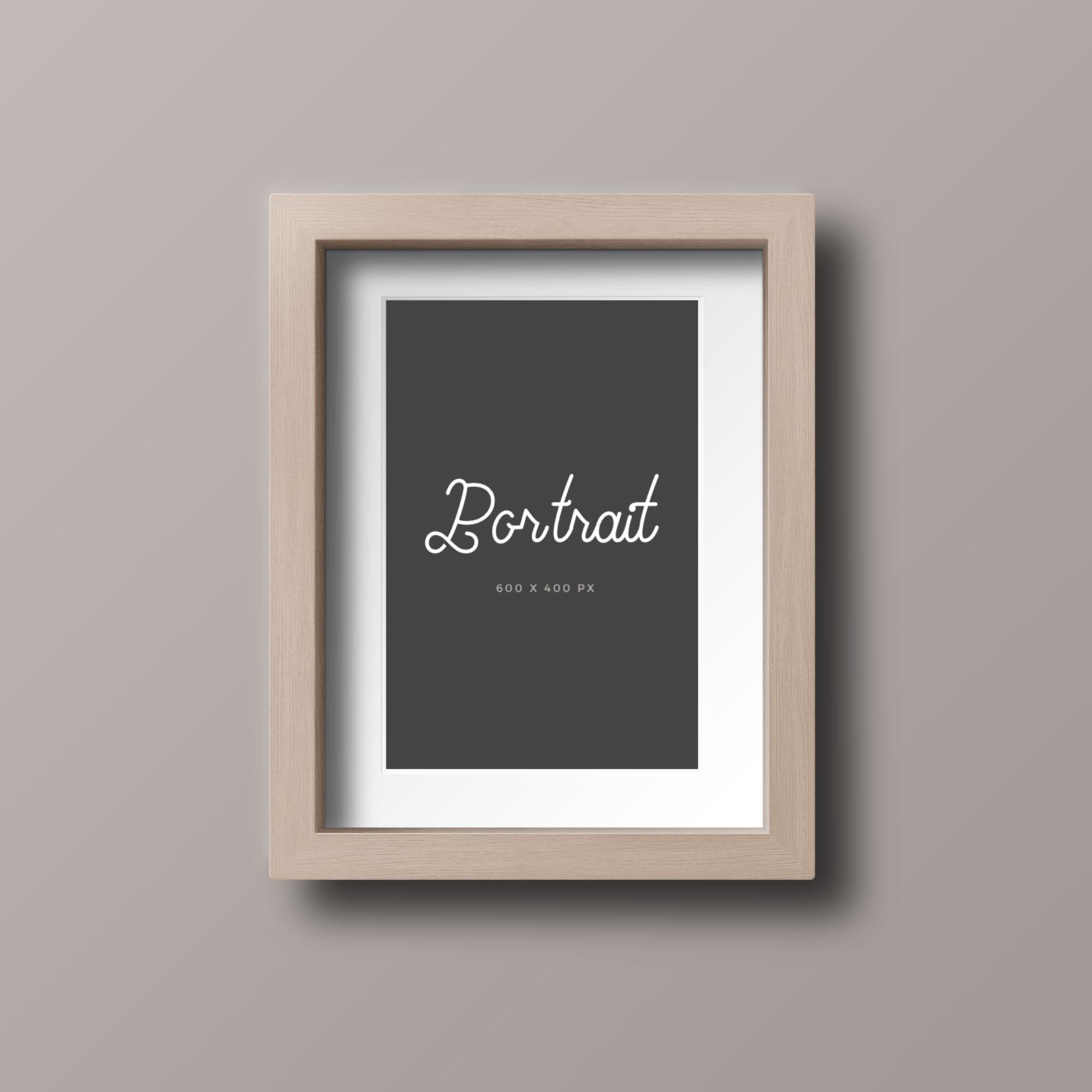 Wood Photo Frame Mockup - Portrait
