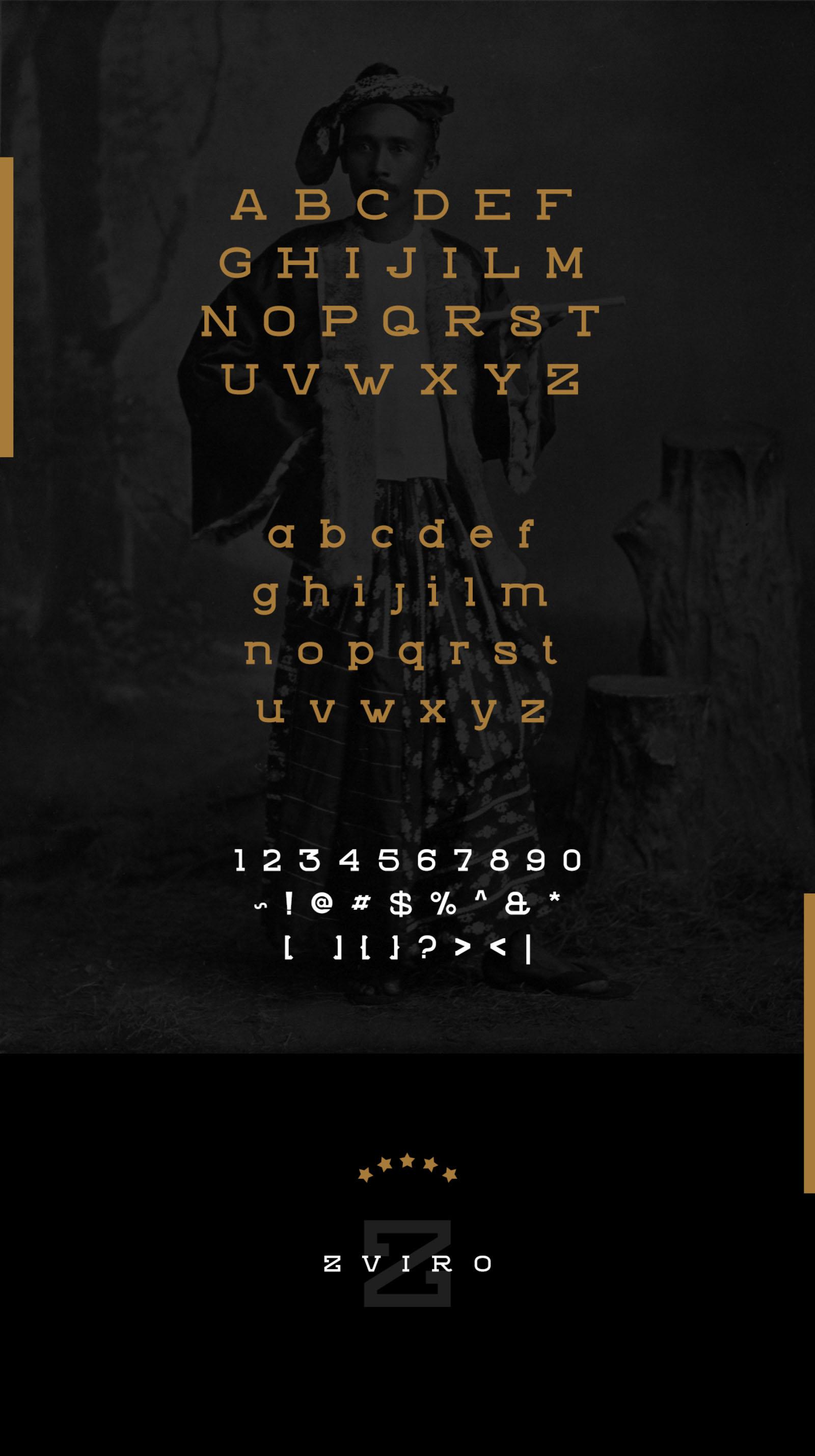 Zviro Font - Letters
