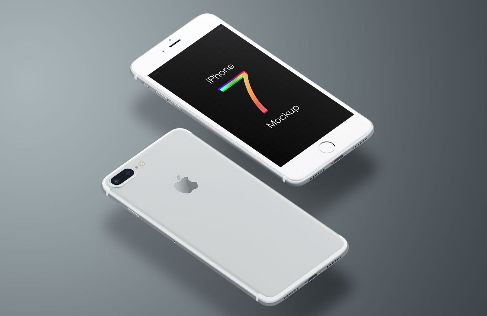 Free Different Color iPhone 7 Mockups