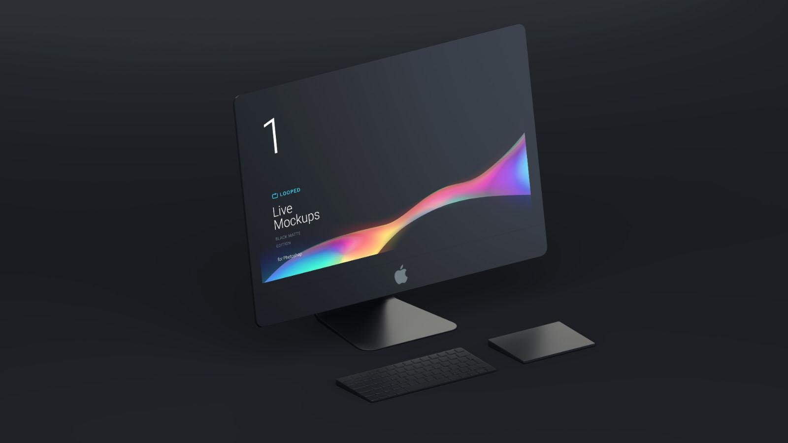 Free Minimalistic iMac Mockup