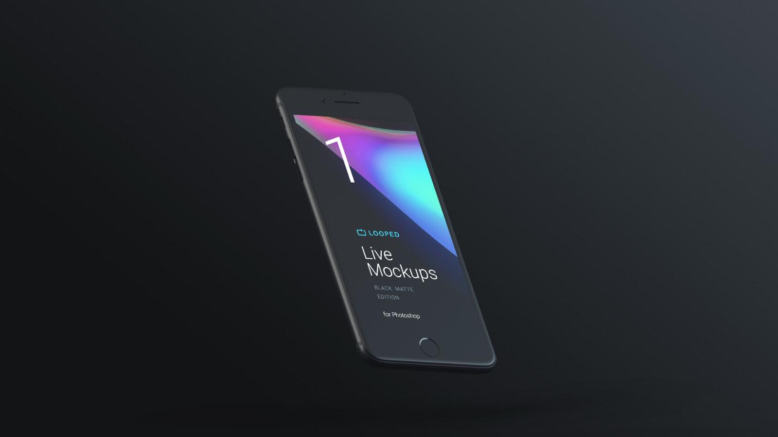Free Dark iPhone Mockup