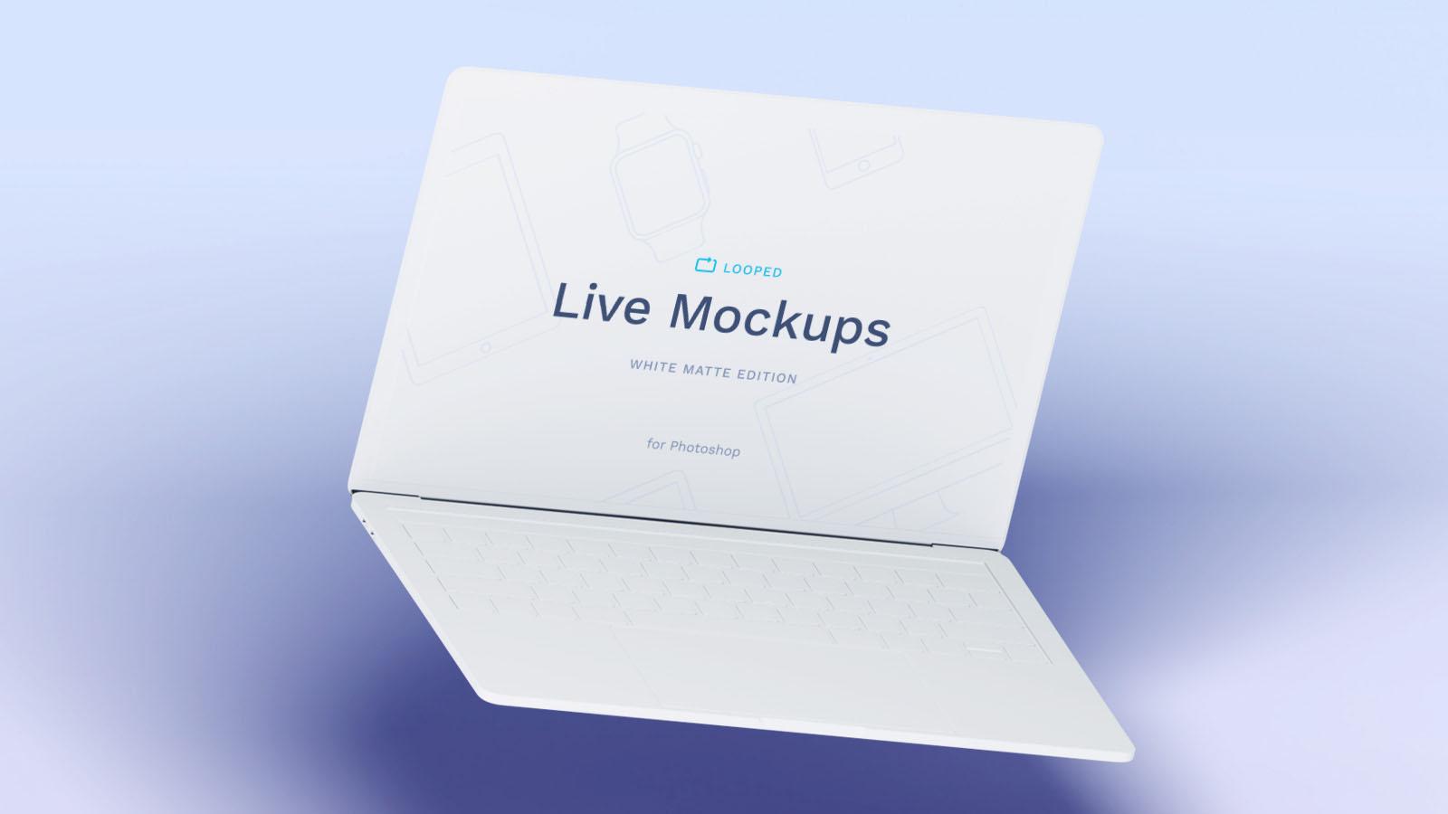 Caly White Laptop Mockup