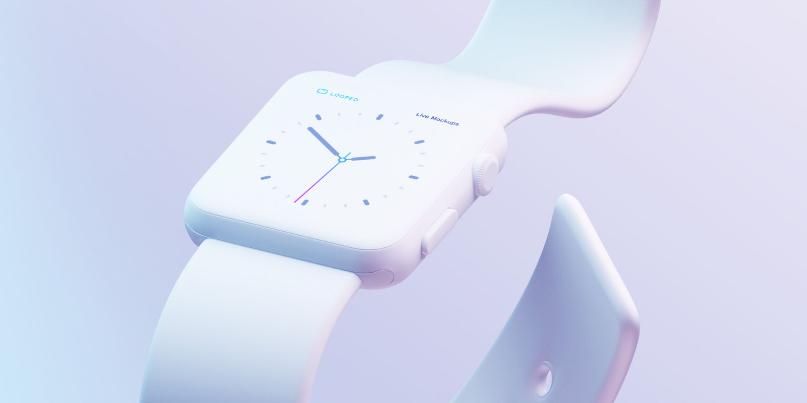 apple watch white clay mockup