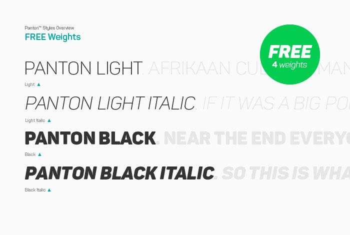 Panton Free Modern Geometric Font