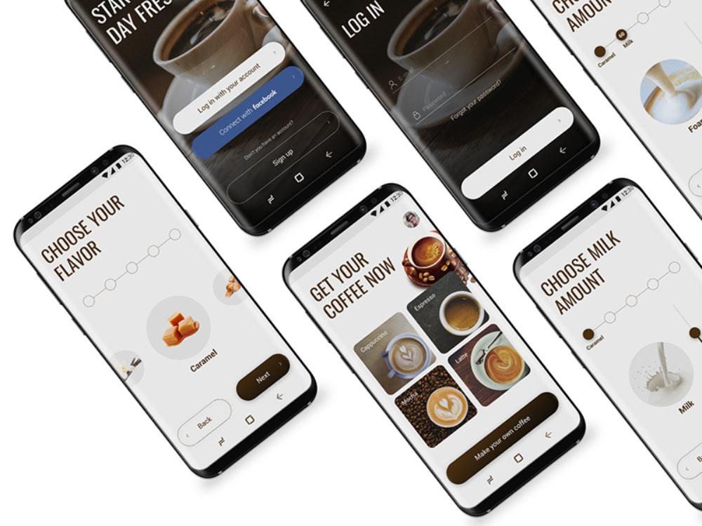 Coffee Maker Mobile App Template