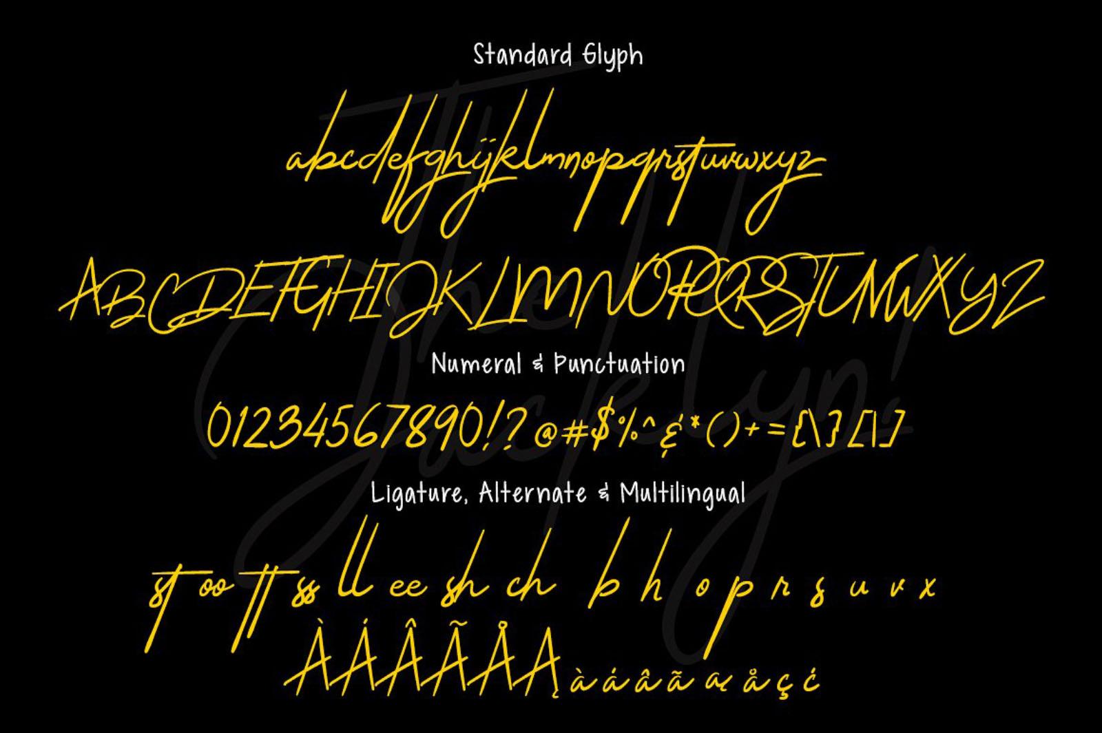 Jacklyn Signature Font