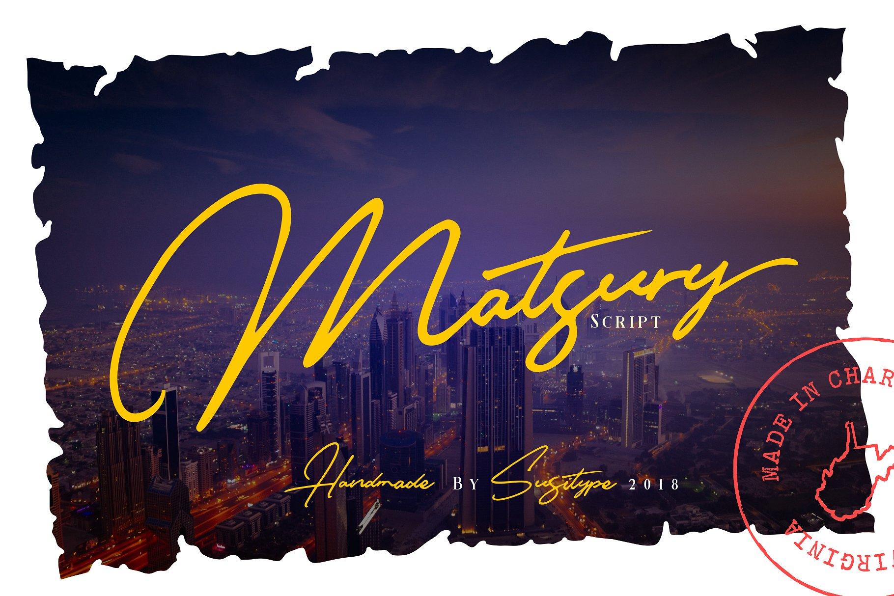 Matsury Signature Script Font