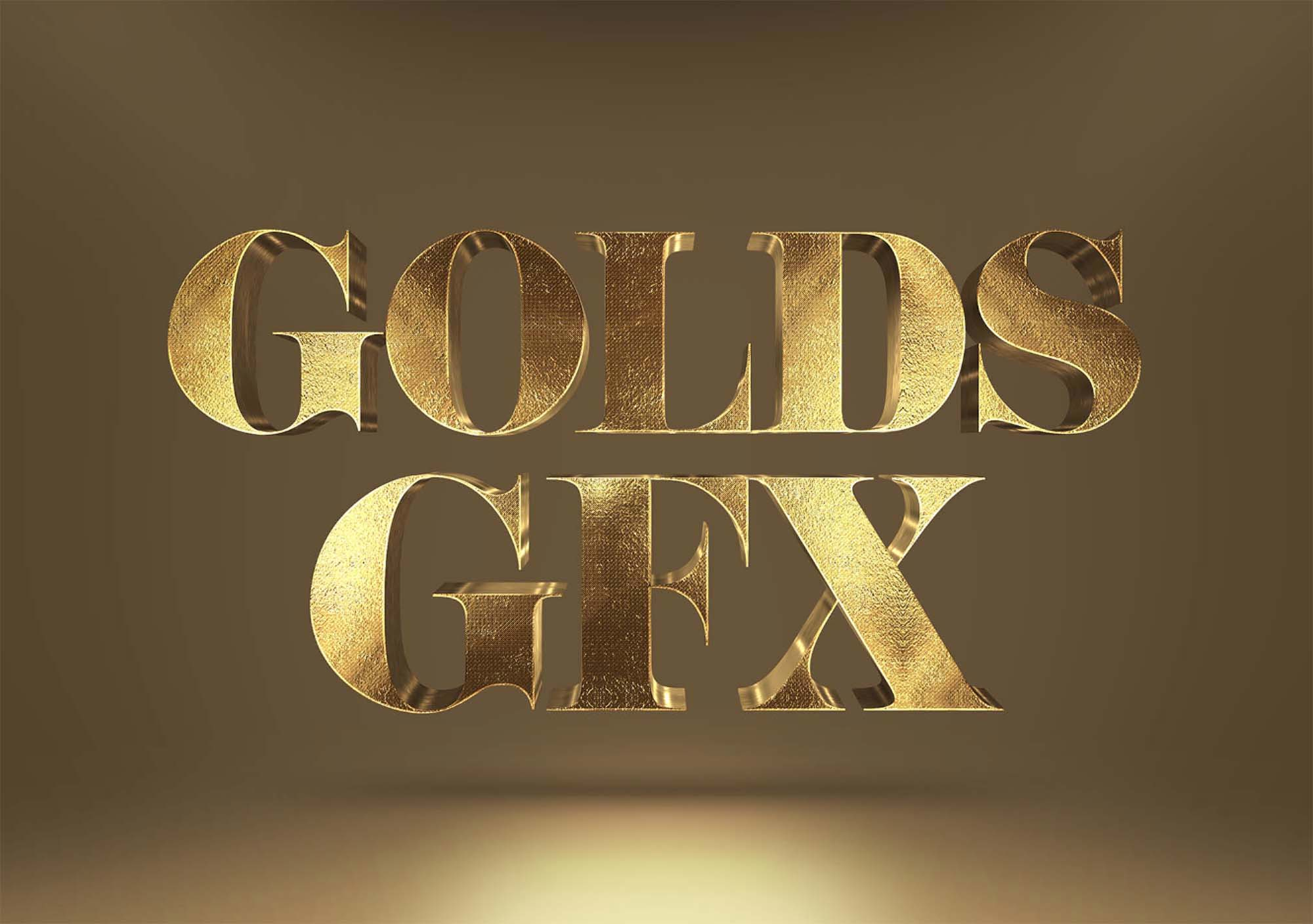 Free Gold Text Effect Mockup (PSD)
